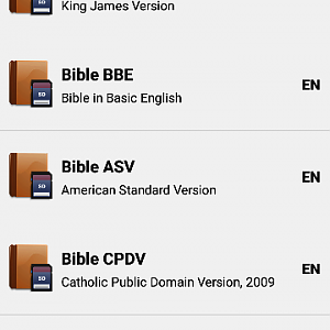 Bible: KJV, BBE, ASV, WEB, LSG for Android