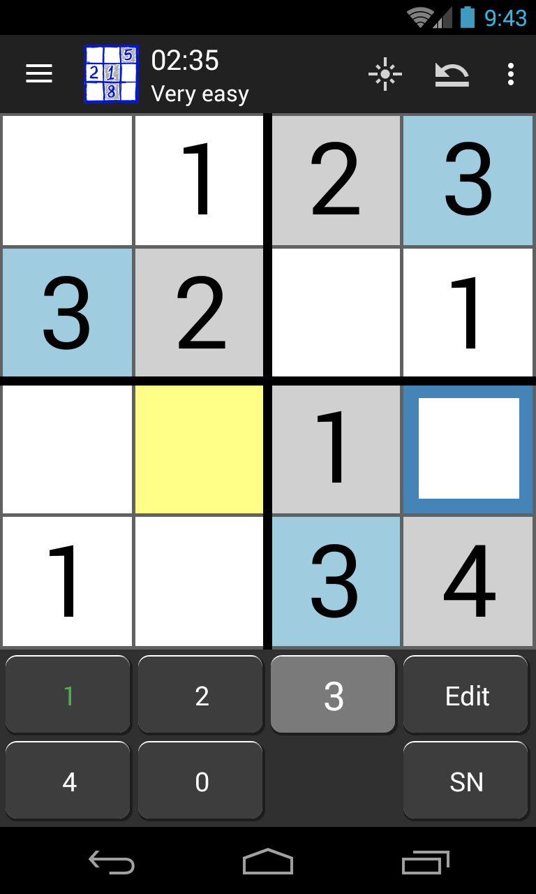 All sizes Sudoku 4x4, 9x9, 16x16, 25x25. The best! - Android Apps ...
