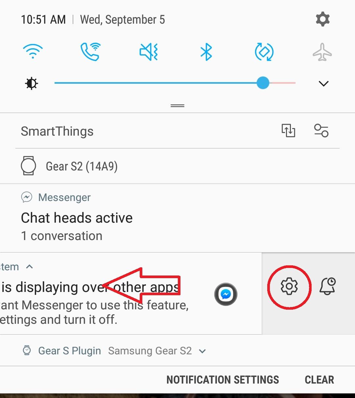 Messenger has been detected using screen overlay
