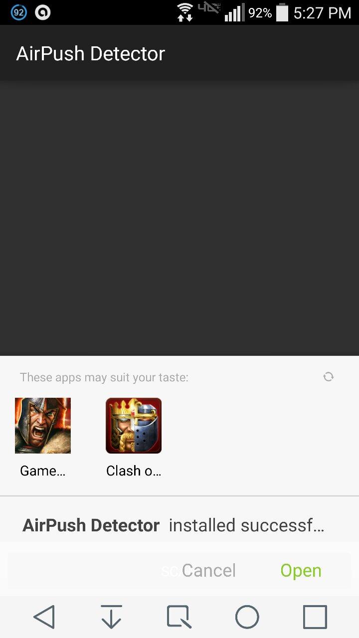 Strange adware problem - LG G3 | Android Forums