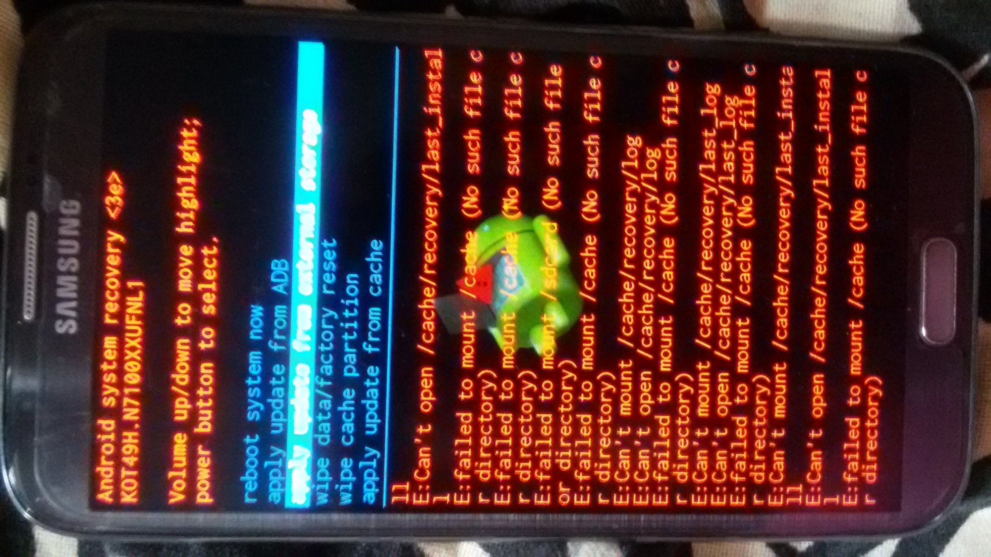 Can't Mount /cache/recovery - Samsung Fascinate | Android Forums