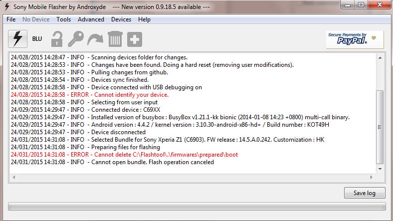 Flashing Xperia Z1 with Lollipop firmware5 0 problem - Sony Xperia