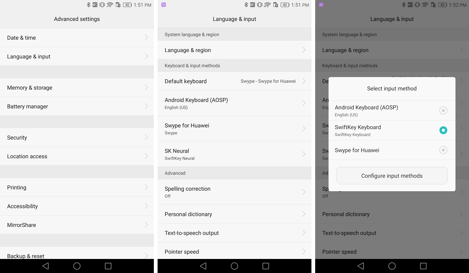 How to change the keyboard on the Huawei Mate 8 - Huawei Mate 8