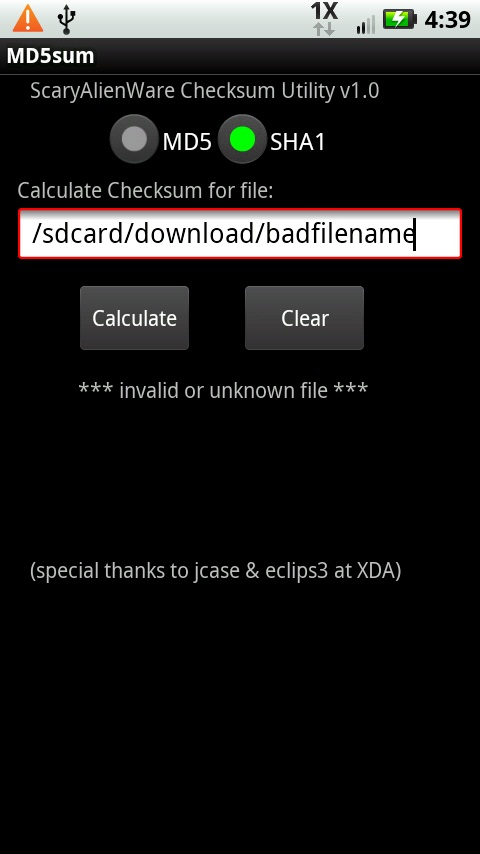 verify your file's MD5 checksums! - HTC Droid Eris | Android