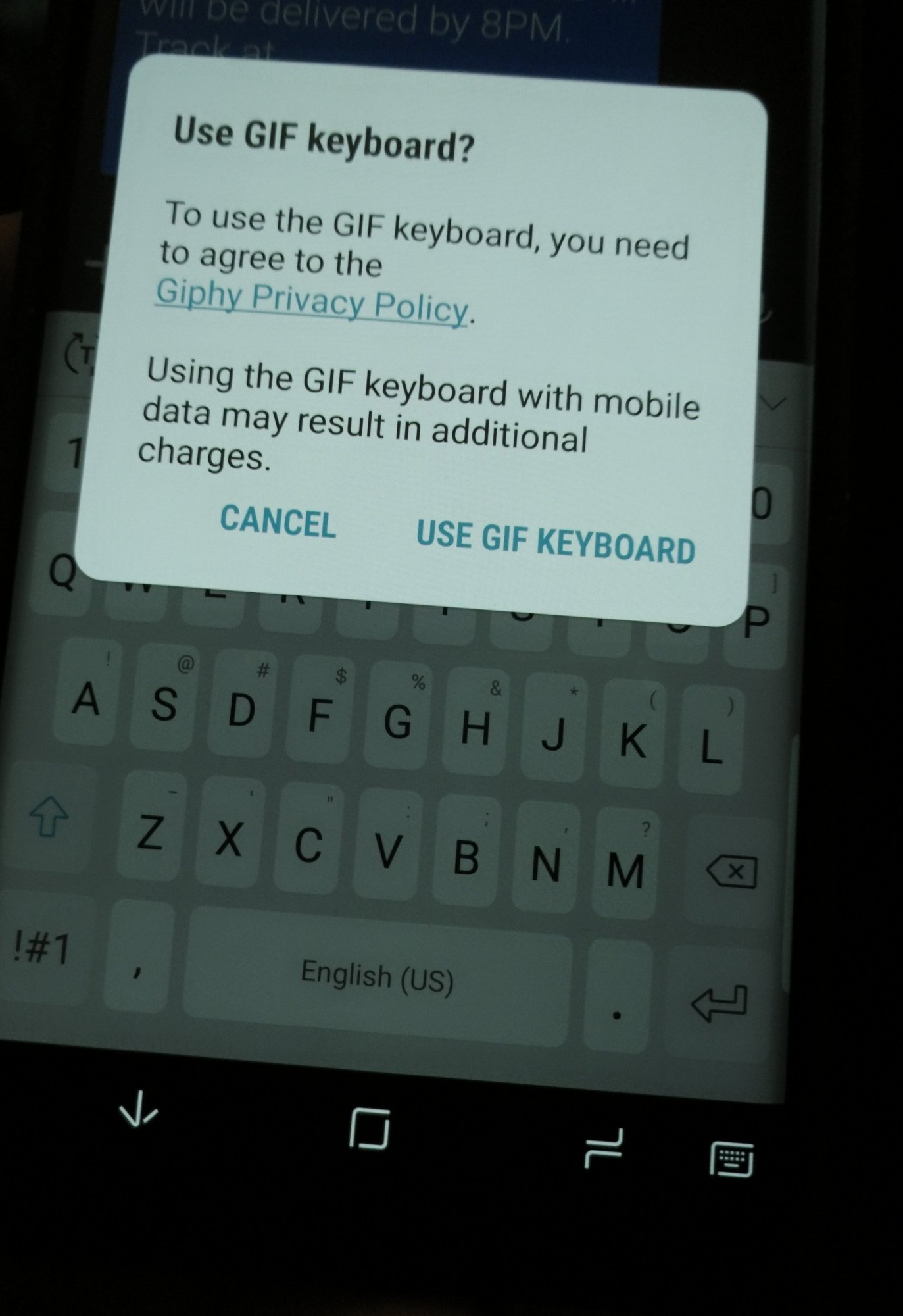 No gifs or stickers on keyboard after Oreo Update - Samsung Galaxy