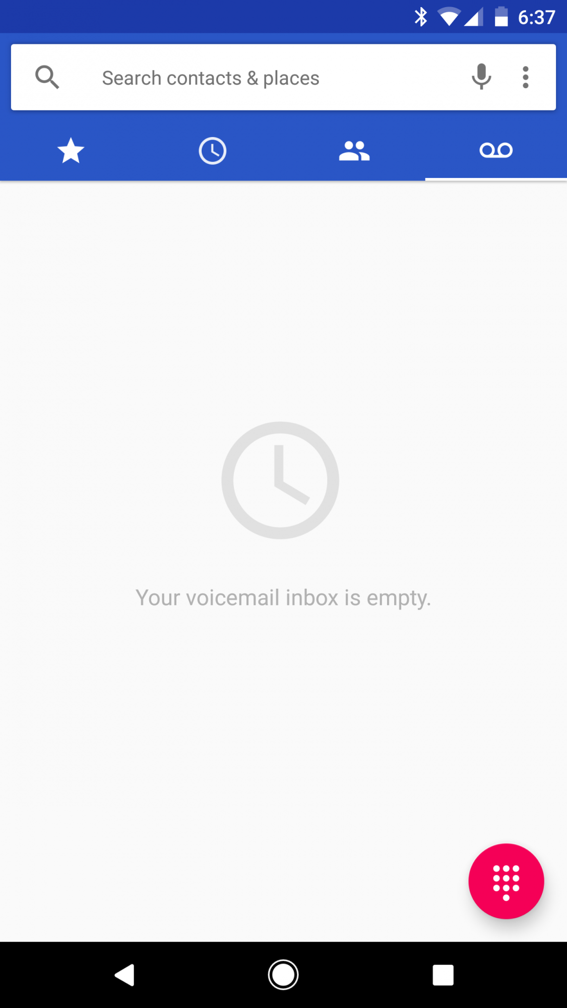 Where is the Verizon Voice Mail icon on the Pixel XL