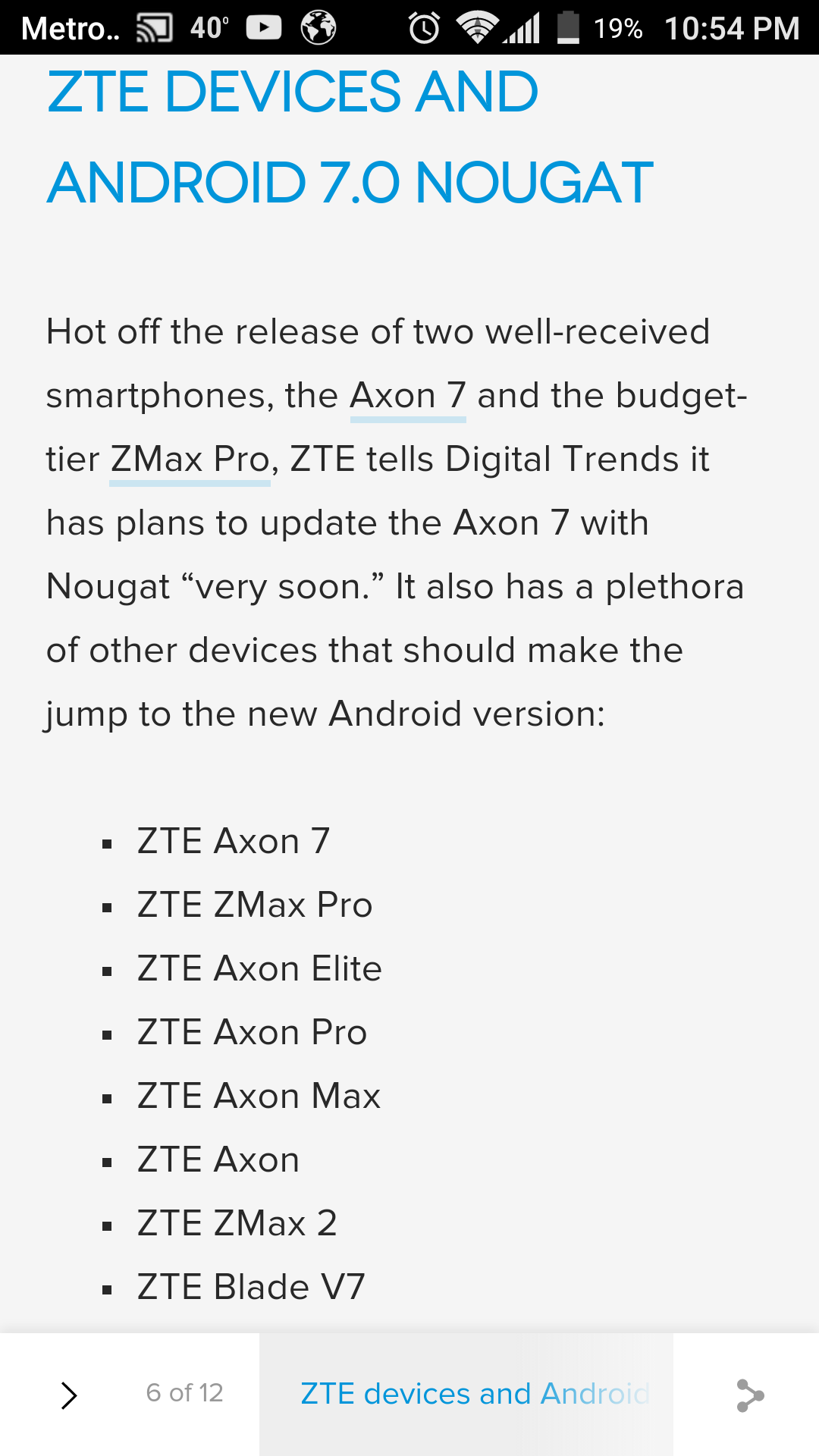 Nougat update for zte zmax pro - ZTE Zmax Pro | Android Forums