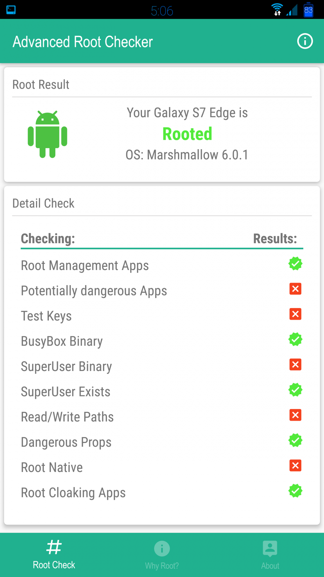Samsung Binary Check