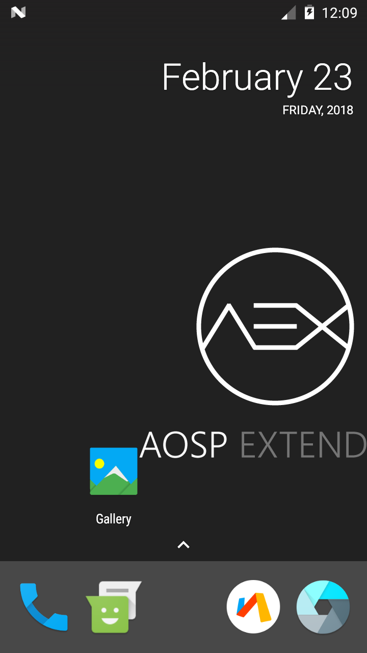ROM][Unofficial] AOSP Extended-v4 6 (7 1 2) for Warp Sync
