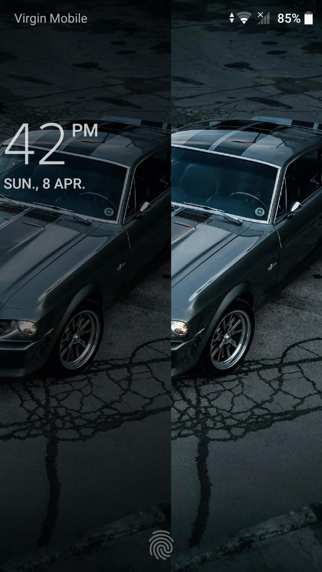 Lock Screen Wallpaper Darker Than Home Screen Sony Xperia Xz