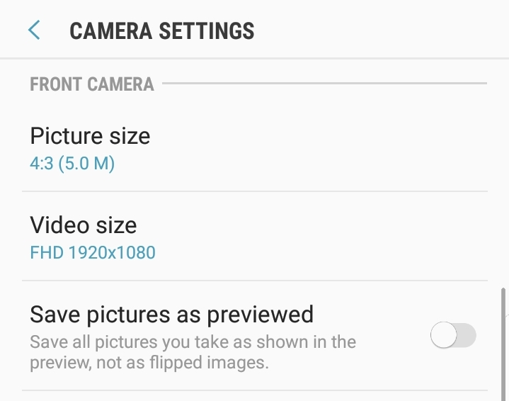 My Front (selfie) camera is BACKWARDS - Samsung Galaxy Note