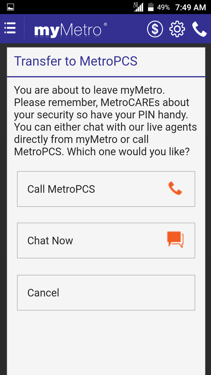 The My Metro App Solution! - MetroPCS | Android Forums