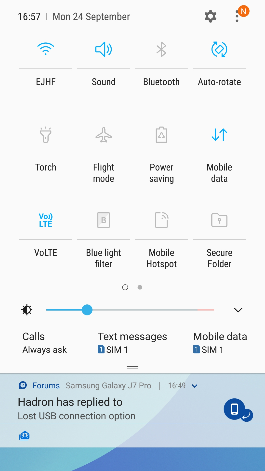 Lost USB connection option - Samsung Galaxy J7 Pro | Android