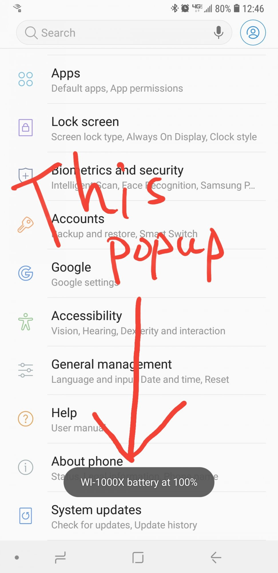 Bluetooth Battery Popup - Samsung Galaxy Note 9 | Android Forums