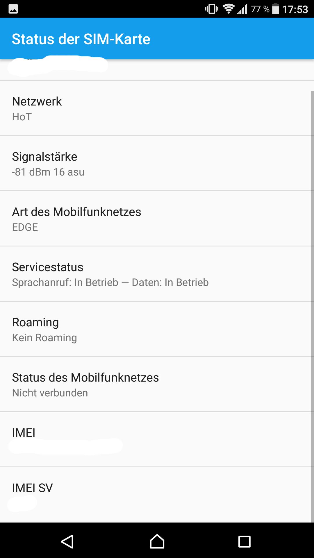 Suddenly almost always no signal with Xperia Z5 - Sony