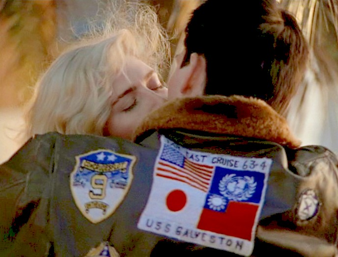 Top Gun 1986 The back leather jacket patches of Pete Maverick Mitchell Top Gun.jpg